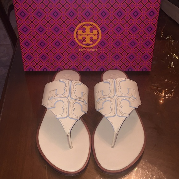87b9ce8ac114b WORN ONCE! Tory Burch Jamie Sandal-100% Authentic.  M 5b2fec0f2beb7999f07e26ce